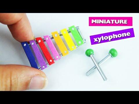How to Make Miniature Xylophone - DIY Tutorial - simplekidscrafts