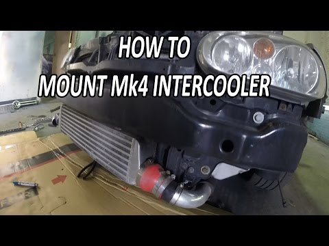 How to Mount Your Front Mount Intercooler (MK4 special)