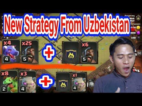 WaauW New Strategy Dari TH9 UZBEKISTAN, DRAGHOG Dan GoWiBy Attack th 9 Super sekali