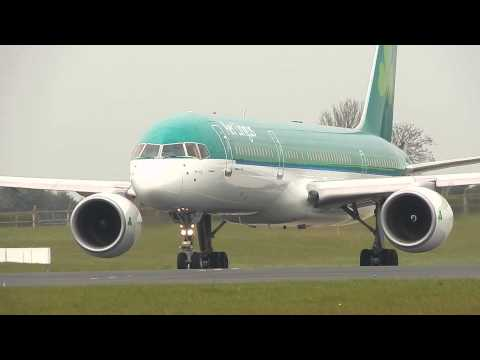 ***Aer Lingus EI-LBT Boeing 757-200 Take-Off from Dublin Airport to Toronto Pearson Airport***