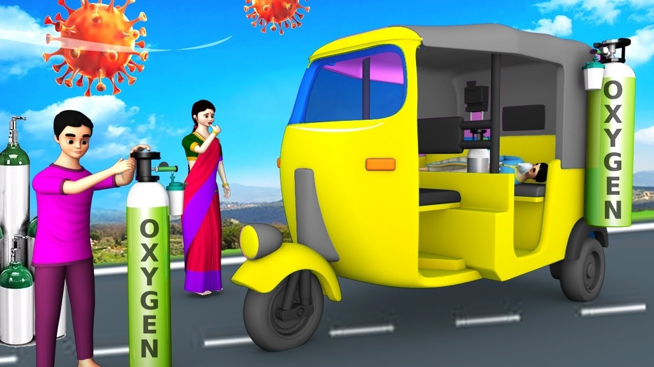 ऑक्सीजन सिलेंडर ऑटो वाला - Oxygen Cylinder Auto Driver 3D Animated Hindi Moral Stories   Maa Maa TV