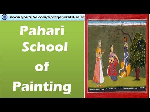 Pahari school of Painting: Bosohli,  Guler,  Kangra,  Kulu - Mandi: Indian art and culture