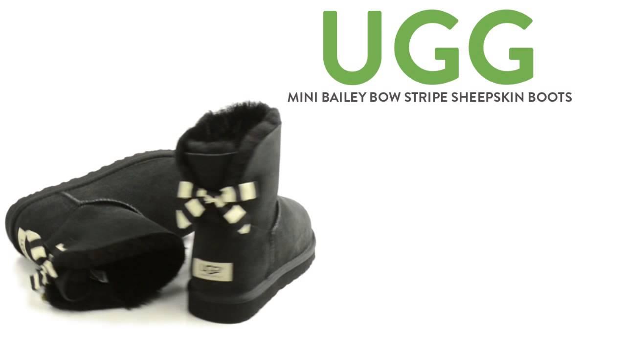 ffe3bc911b0 UGG® Australia Mini Bailey Bow Stripe Boots - Sheepskin (For Women)