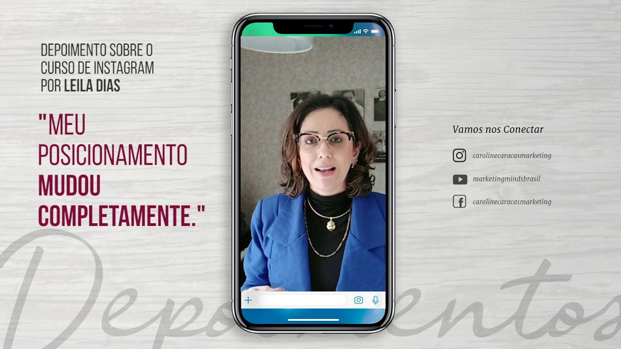 Depoimento sobre o Curso de Instagram por Leila Dias