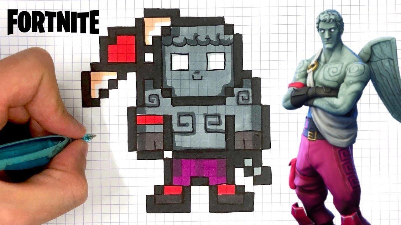 Como Dibujar Love Ranger Pixel Art Fortnite