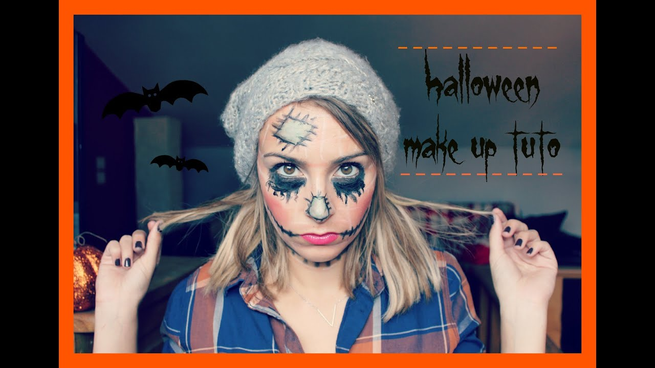 maquillage halloween epouvantail