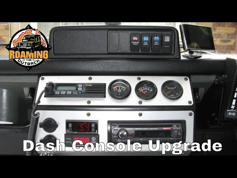 Land Rover Defender Dash Console Upgrade