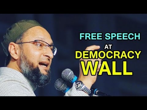 Barrister Asaduddin Owaisi A Free Speech at Democracy Wall | Overseas News