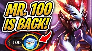 MR. 100 IS BACK W/ ANOTHER PERFECT TFT GAME! | Teamfight Tactics | League of Legends Auto Chess