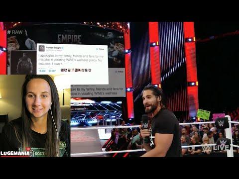 WWE Raw 6/27/16 Seth Rollins Responds to Roman Reigns SUSPENSION