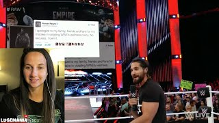 wwe raw 6 27 16 seth rollins responds to roman reigns suspension