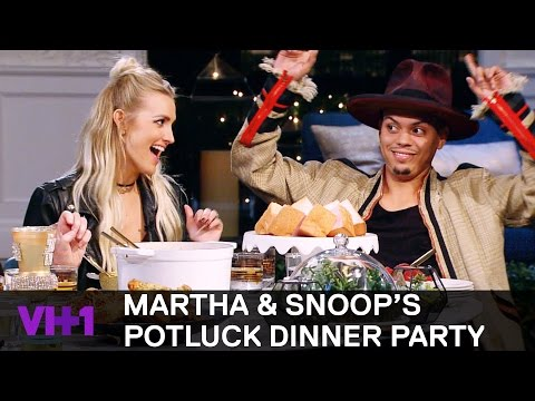 Ashlee Simpson & Evan Ross Talk Family w Snoop Dogg  Martha & Snoop's Potluck Dinner Party