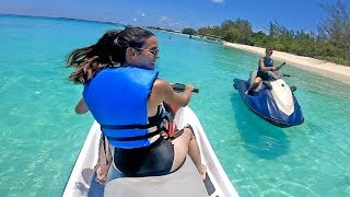 Ocean Jet Ski Fishing Challenge with WIVES!  - FAILS & SINKS!