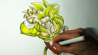 Drawing Goku SSJ6 - Dragon Ball