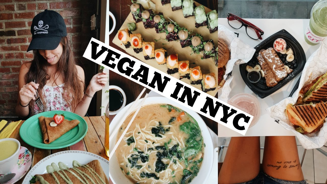 What I Ate In New York City Epic Vegan Food Vlog Youtube