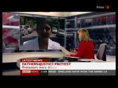 bbc news Harmen protest. Harmen interview