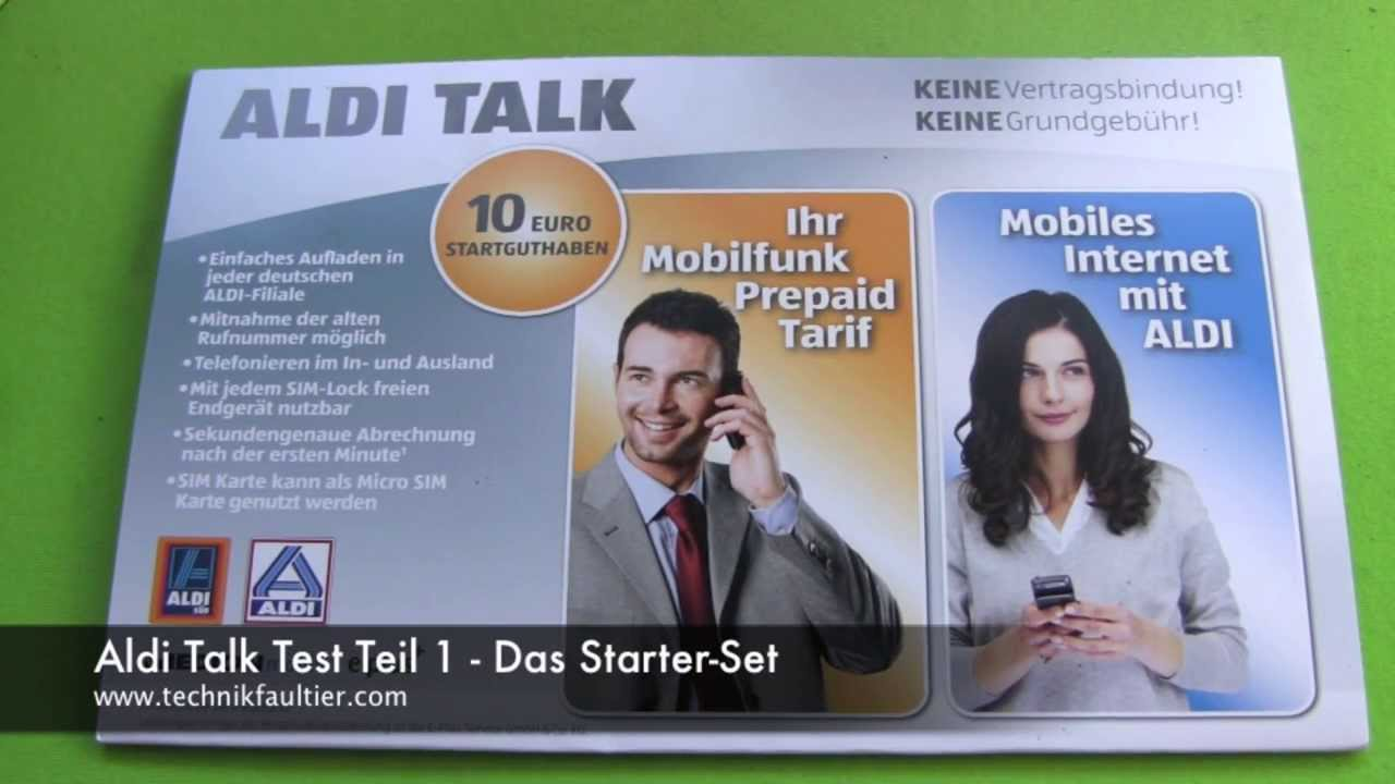 aldi talk test teil 1 das starter set youtube. Black Bedroom Furniture Sets. Home Design Ideas