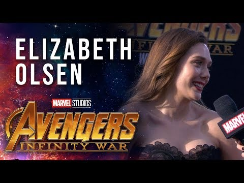 Elizabeth Olsen Live from the Avengers: Infinity War Premiere