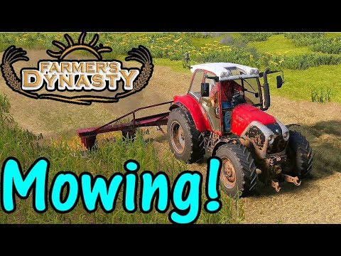 Let's Play Farmer's Dynasty #38: Mowing!