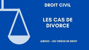 Les causes de divorce