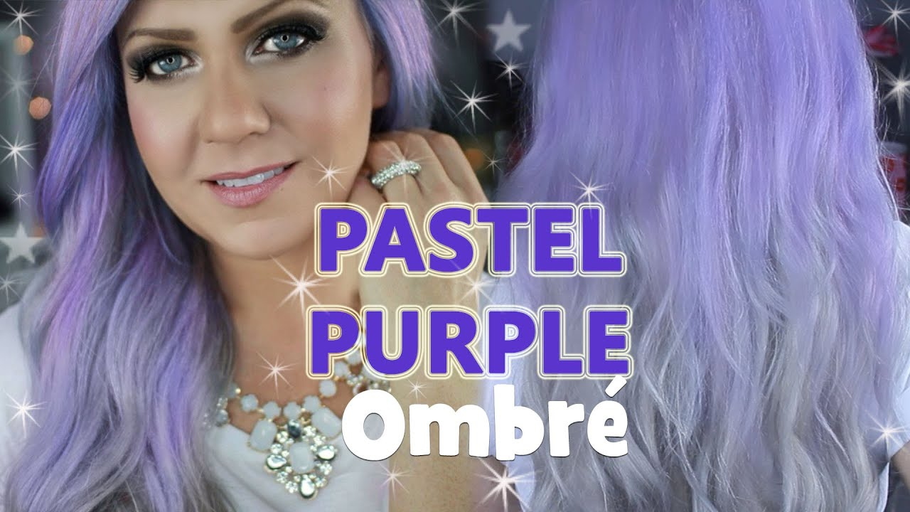 Purple Ombre Hair Tutorial Purple To Silver Ombre At Home Under
