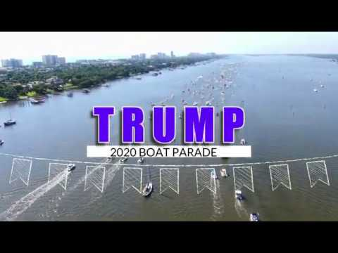 Space Coast FL: June 14 Trump's Birthday, thousands of boats, skydivers... click for more videos