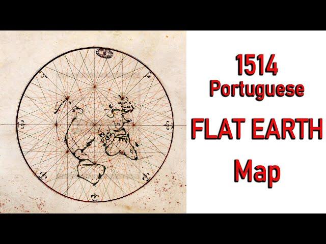 1514 Portuguese F.L.A.T - E.A.R.T.H Map
