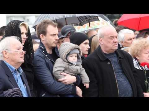 Открытие памятника жертвам крушения Boeing в Ростове-на-Дону
