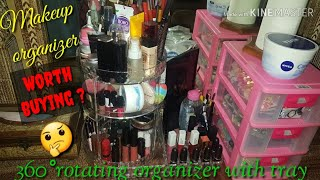 BEST MAKEUP ORGANIZER FOR DRESSING TABLE || 360° ROTATING MAKEUP ORGANISER WITH TRAY