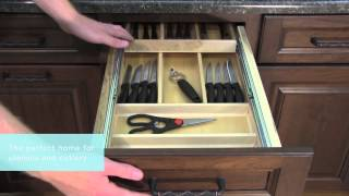 Medallion Cabinetry: Three Drawer Base With Cutlery Divider, Kitchen Storage Part 2