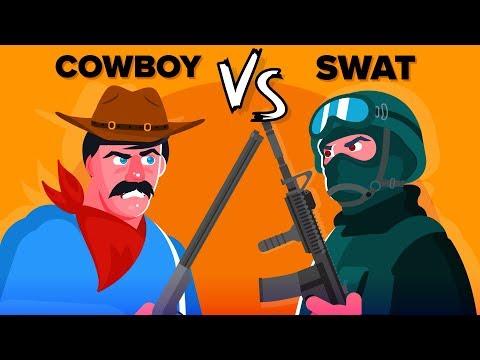 COWBOY vs SWAT - Who Would Win?  