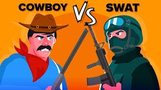 cowboy-vs-swat-who-would-win