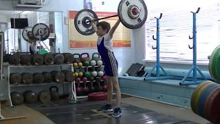 Шумихин Артур, 10 лет, св 28 3 Рывок 24 кг Есть личный рекорд!