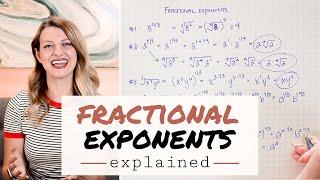 FRACTIONAL EXPONENTS EXPLAINED » algeḃraic expressions | Math Hacks