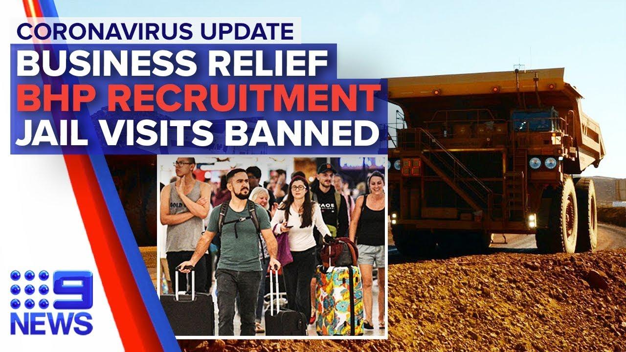 Coronavirus: Banks defer loan repayments BHP needs staff to survive crisis – Nine News Australia