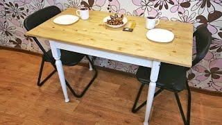 Не Выбрасывайте старую мебель! Как обновить стол всего за 40$? Вторая жизнь советского стола.