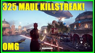 Star Wars Battlefront 2 - GIGANTIC 325 Darth Maul Killstreak! DARTH MAUL IS A SAVAGE!