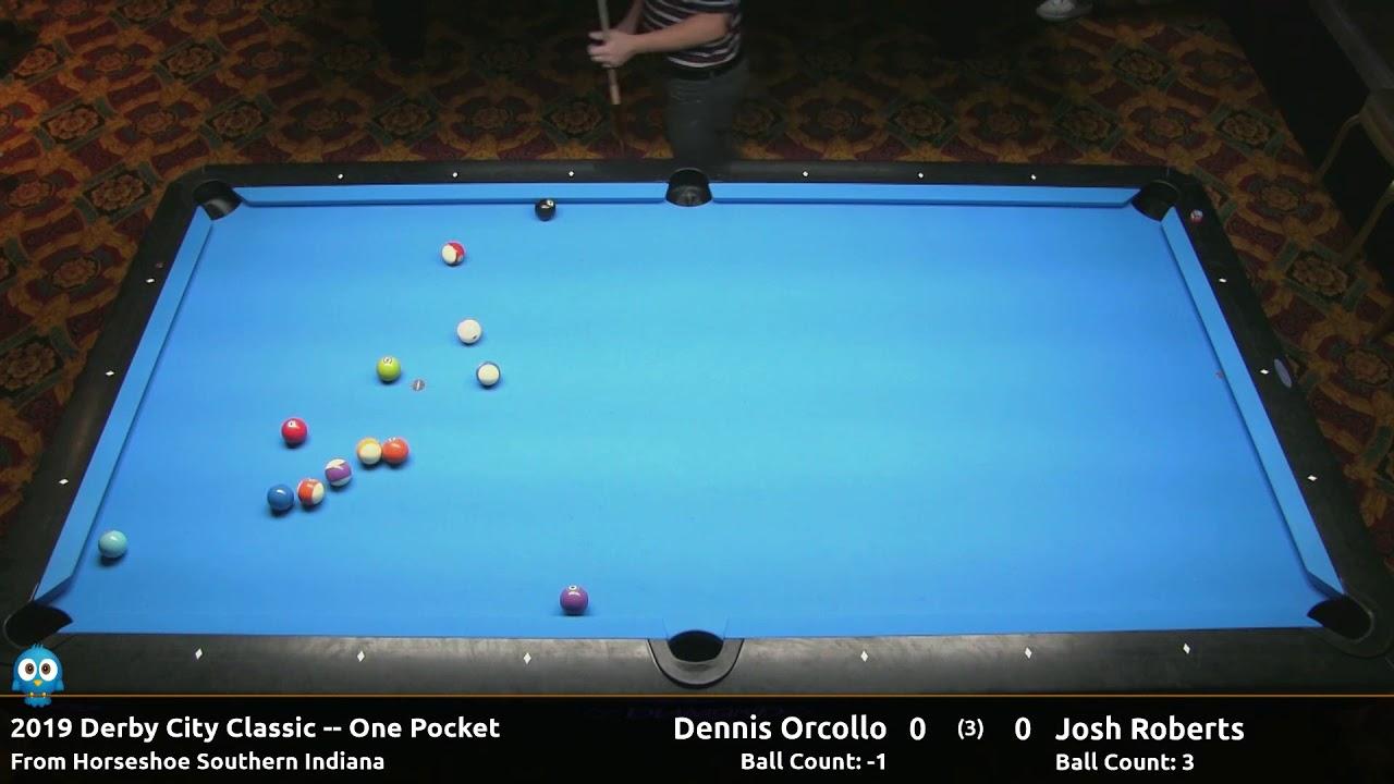 Dennis Orcollo vs Josh Roberts - One Pocket - 2019 Derby City Classic