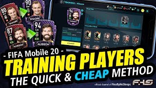 FIFA Mobile - TRAINING PLAYERS Quick and Cheap to a Legendary Squad