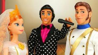 Frozen Elsa y Kristoff Se Deberian Casar? Con Frozen Anna y Hans. Aventuras Juguetes