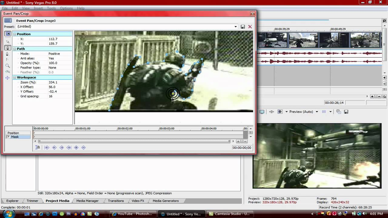 how to add a blur box in sony vegas