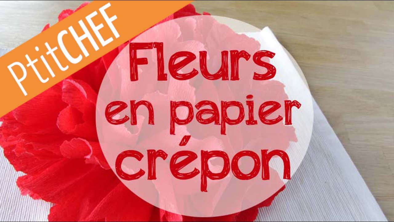 Tutoriel d co fleur en papier cr pon pour no l ptitchef - Comment faire une decoration de noel en papier ...