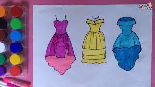 Dạy bé học tập vẽ váy thời trang 2 | Day be hoc tap ve vay thoi trang | Dạy bé học