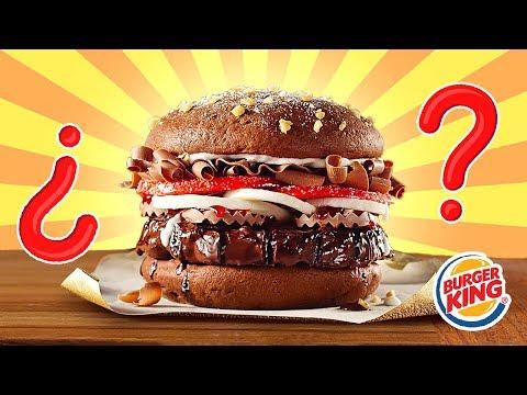 Intento hacer la Whopper de Chocolate del Burger King