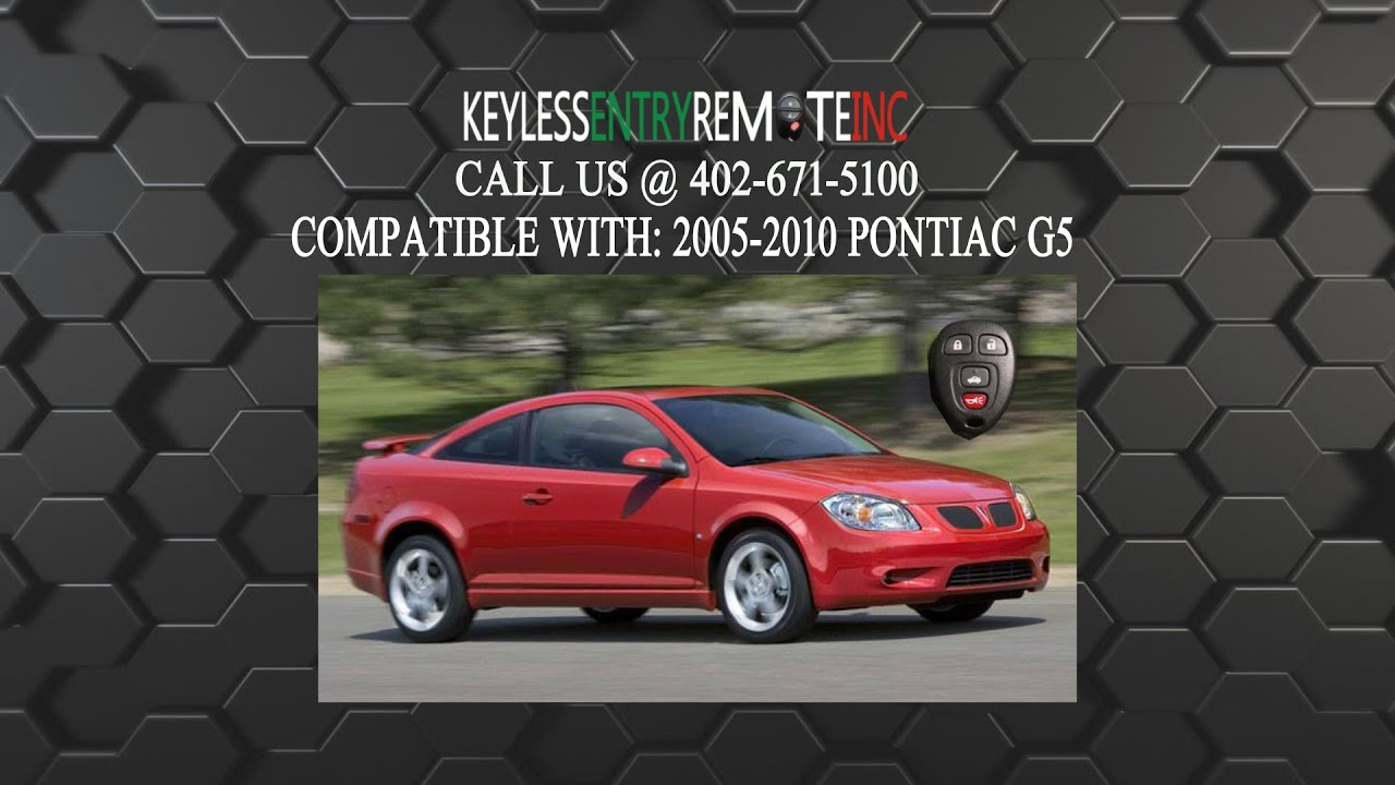 how to replace pontiac g5 key fob battery 2005 2006 2007 2008 2009 2010 [ 1280 x 720 Pixel ]