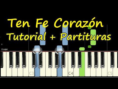 TEN FE CORAZON Intro Piano Tutorial Cover Facil + Partitura PDF Sheet Music Easy Midi thumbnail