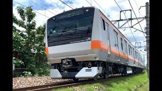 E233系0番代 T71編成 中央本線試運転 春日居町〜山梨市間通過