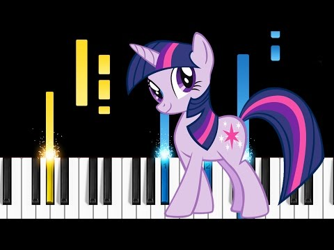 My Little Pony Theme Song - Friendship Is Magic - Piano Tutorial