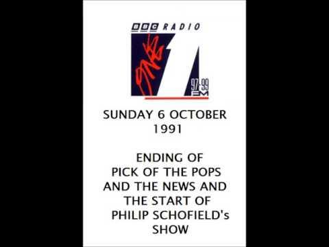BBC RADIO 1 OCTOBER 1991  pick of the pops into PHILIP SCHOFIELD's show  PHILIP SCHOFIELD itv this m