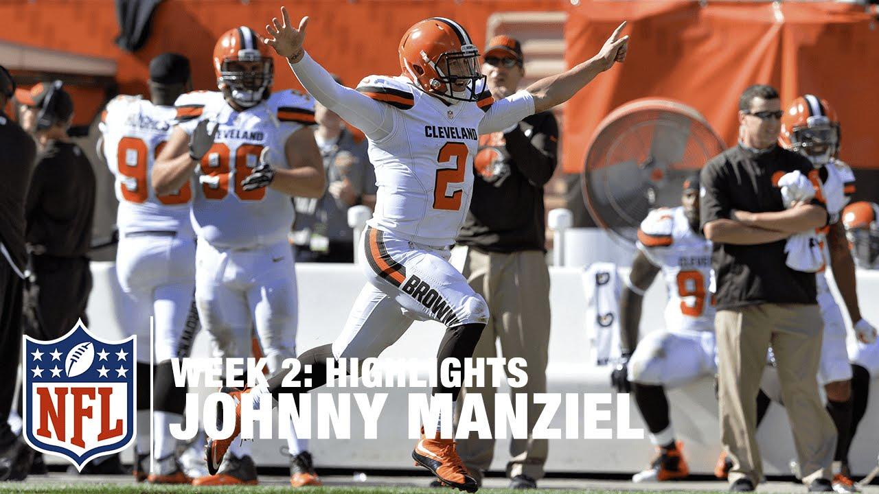 super popular 7b7b0 0fdb6 Johnny Manziel Highlights (Week 2) | Titans vs. Browns | NFL